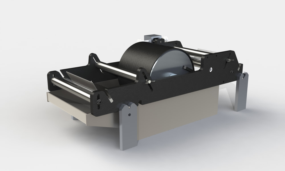 Standard wet winding drum resin bath for filament winding
