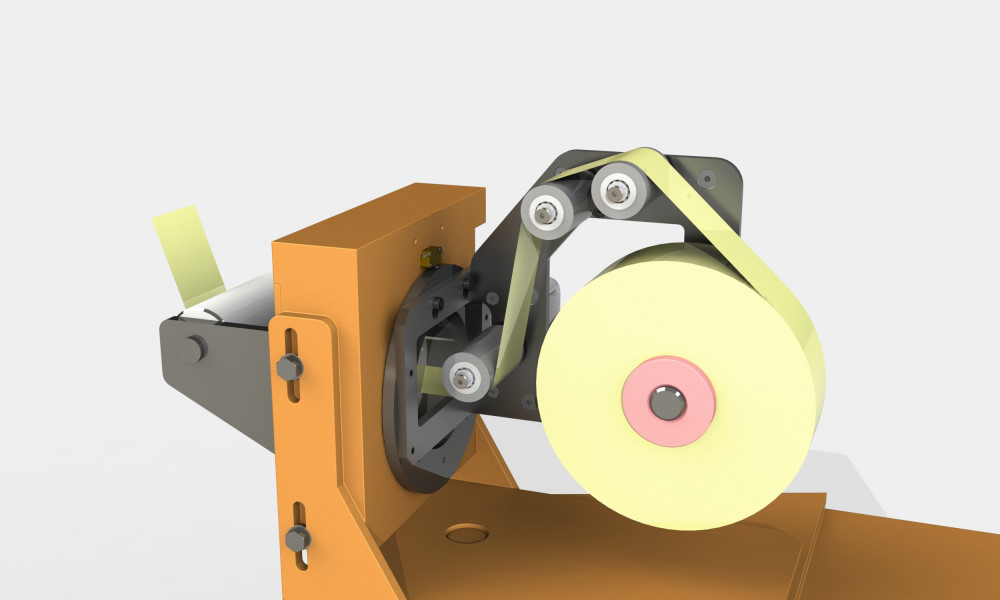 Tape tensioner for filament winding
