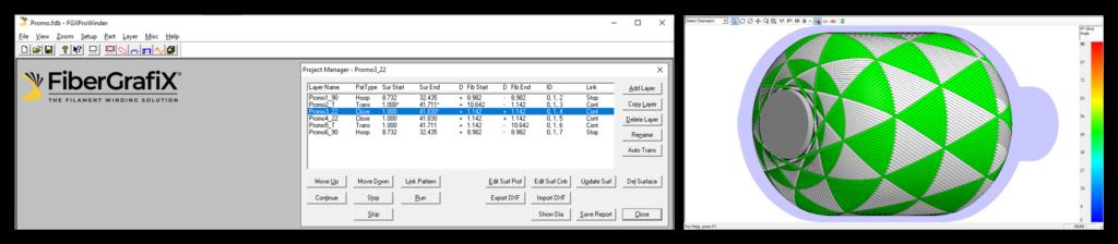 Filament winding software FiberGrafiX