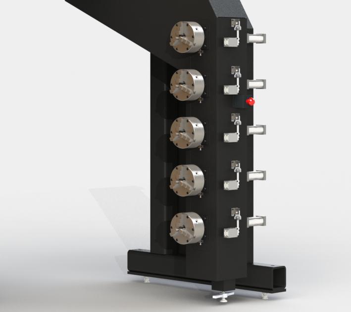 Tailstock chucks for a filament winding machine
